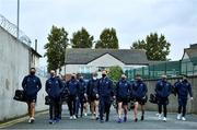 17 October 2020; The Dublin team arrive ahead of the Allianz Football League Division 1 Round 6 match between Dublin and Meath at Parnell Park in Dublin. Photo by Ramsey Cardy/Sportsfile