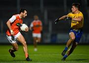 17 October 2020; Jamie Clarke of Armagh in action against Seán Mullooly of Roscommon during the Allianz Football League Division 2 Round 6 match between Armagh and Roscommon at the Athletic Grounds in Armagh. Photo by Piaras Ó Mídheach/Sportsfile