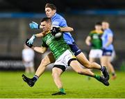 17 October 2020; Shane McEntee of Meath is tackled by Michael Fitzsimons of Dublin during the Allianz Football League Division 1 Round 6 match between Dublin and Meath at Parnell Park in Dublin. Photo by Ramsey Cardy/Sportsfile