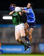 17 October 2020; Ronan Jones of Meath and Niall Scully of Dublin during the Allianz Football League Division 1 Round 6 match between Dublin and Meath at Parnell Park in Dublin. Photo by Ramsey Cardy/Sportsfile
