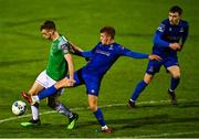 17 October 2020; Cian Bargary of Cork City in action against Niall O'Keeffe of Waterford  during the SSE Airtricity League Premier Division match between Cork City and Waterford at Turners Cross in Cork. Photo by Eóin Noonan/Sportsfile