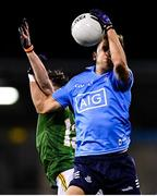 17 October 2020; Jonny Cooper of Dublin and Jason Scully of Meath during the Allianz Football League Division 1 Round 6 match between Dublin and Meath at Parnell Park in Dublin. Photo by Ramsey Cardy/Sportsfile