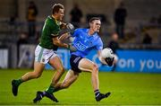 17 October 2020; Brian Fenton of Dublin is tackled by Ronan Jones of Meath during the Allianz Football League Division 1 Round 6 match between Dublin and Meath at Parnell Park in Dublin. Photo by Brendan Moran/Sportsfile