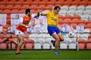 17 October 2020; Enda Smith of Roscommon in action against Jamie Clarke of Armagh during the Allianz Football League Division 2 Round 6 match between Armagh and Roscommon at the Athletic Grounds in Armagh. Photo by Piaras Ó Mídheach/Sportsfile