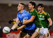 17 October 2020; Paddy Small of Dublin in action against Ethan Devine of Meath during the Allianz Football League Division 1 Round 6 match between Dublin and Meath at Parnell Park in Dublin. Photo by Brendan Moran/Sportsfile