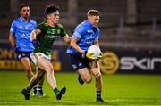 17 October 2020; Cian Murphy of Dublin in action against Eoin Harkin of Meath during the Allianz Football League Division 1 Round 6 match between Dublin and Meath at Parnell Park in Dublin. Photo by Brendan Moran/Sportsfile