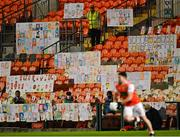17 October 2020; Self portraits from over 3,000 primary school children across Armagh in the stands during the Allianz Football League Division 2 Round 6 match between Armagh and Roscommon at the Athletic Grounds in Armagh. Photo by Piaras Ó Mídheach/Sportsfile