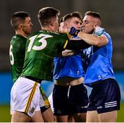 17 October 2020; Thomas O'Reilly of Meath and Paddy Small of Dublin during the Allianz Football League Division 1 Round 6 match between Dublin and Meath at Parnell Park in Dublin. Photo by Ramsey Cardy/Sportsfile