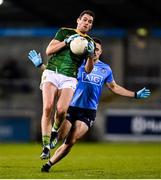 17 October 2020; Bryan Menton of Meath in action against Brian Howard of Dublin during the Allianz Football League Division 1 Round 6 match between Dublin and Meath at Parnell Park in Dublin. Photo by Ramsey Cardy/Sportsfile