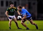 17 October 2020; Ciarán Kilkenny of Dublin and Cillian O'Sullivan of Meath during the Allianz Football League Division 1 Round 6 match between Dublin and Meath at Parnell Park in Dublin. Photo by Ramsey Cardy/Sportsfile