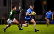 17 October 2020; Cian Murphy of Dublin in action against James McEntee of Meath during the Allianz Football League Division 1 Round 6 match between Dublin and Meath at Parnell Park in Dublin. Photo by Ramsey Cardy/Sportsfile