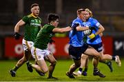 17 October 2020; Con O'Callaghan of Dublin is tackled by Eoin Harkin of Meath during the Allianz Football League Division 1 Round 6 match between Dublin and Meath at Parnell Park in Dublin. Photo by Ramsey Cardy/Sportsfile
