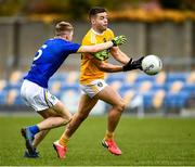 17 October 2020; Patrick McBride of Antrim in action against Andy Maher of Wicklow during the Allianz Football League Division 4 Round 6 match between Wicklow and Antrim at the County Grounds in Aughrim, Wicklow. Photo by Ray McManus/Sportsfile