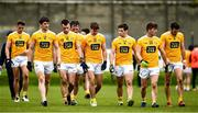 17 October 2020; Antrim players at half-time of the Allianz Football League Division 4 Round 6 match between Wicklow and Antrim at the County Grounds in Aughrim, Wicklow. Photo by Ray McManus/Sportsfile