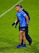 17 October 2020; Jonny Cooper of Dublin leaves the pitch with an injury during the Allianz Football League Division 1 Round 6 match between Dublin and Meath at Parnell Park in Dublin. Photo by Brendan Moran/Sportsfile