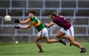 17 October 2020; Jack Kennelly of Kerry in action against Sean Fitzgerald of Galway during the EirGrid GAA Football All-Ireland U20 Championship Semi-Final match between Kerry and Galway at the LIT Gaelic Grounds in Limerick. Photo by Matt Browne/Sportsfile