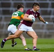17 October 2020; Sean Fitzgerald of Galway in action against Ruaidhri O Beaglaoich of Kerry during the EirGrid GAA Football All-Ireland U20 Championship Semi-Final match between Kerry and Galway at the LIT Gaelic Grounds in Limerick. Photo by Matt Browne/Sportsfile