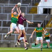 17 October 2020; Michael O'Gara of Kerry in action against Cian Hernon of Galway during the EirGrid GAA Football All-Ireland U20 Championship Semi-Final match between Kerry and Galway at the LIT Gaelic Grounds in Limerick. Photo by Matt Browne/Sportsfile