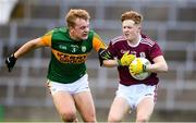 17 October 2020; Oisin Gormley of Galway in action against Alan Dineen of Kerry during the EirGrid GAA Football All-Ireland U20 Championship Semi-Final match between Kerry and Galway at the LIT Gaelic Grounds in Limerick. Photo by Matt Browne/Sportsfile