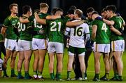 17 October 2020; Meath manager Andy McEntee speaks to his players prior to the Allianz Football League Division 1 Round 6 match between Dublin and Meath at Parnell Park in Dublin. Photo by Brendan Moran/Sportsfile