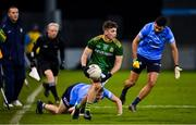 17 October 2020; James Conlon of Meath in action against Cian Murphy of Dublin during the Allianz Football League Division 1 Round 6 match between Dublin and Meath at Parnell Park in Dublin. Photo by Brendan Moran/Sportsfile