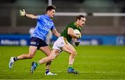 17 October 2020; Cillian O'Sullivan of Meath in action against Eric Lowndes of Dublin during the Allianz Football League Division 1 Round 6 match between Dublin and Meath at Parnell Park in Dublin. Photo by Brendan Moran/Sportsfile