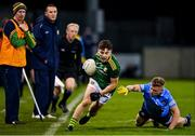17 October 2020; James Conlon of Meath gets away from Cian Murphy of Dublin during the Allianz Football League Division 1 Round 6 match between Dublin and Meath at Parnell Park in Dublin. Photo by Brendan Moran/Sportsfile