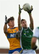 18 October 2020; Eoin Donnelly of Fermanagh in action against Aaron Fitzgerald of Clare during the Allianz Football League Division 2 Round 6 match between Clare and Fermanagh at Cusack Park in Ennis, Clare. Photo by Diarmuid Greene/Sportsfile