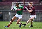 18 October 2020; Aidan O'Shea of Mayo and Séan Andy Ó Ceallaigh of Galway during the Allianz Football League Division 1 Round 6 match between Galway and Mayo at Tuam Stadium in Tuam, Galway. Photo by Ramsey Cardy/Sportsfile