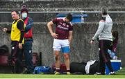 18 October 2020; Damien Comer of Galway after being substituted early in the Allianz Football League Division 1 Round 6 match between Galway and Mayo at Tuam Stadium in Tuam, Galway. Photo by Ramsey Cardy/Sportsfile