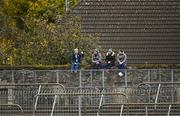 18 October 2020; People look on from outside the ground during the Allianz Football League Division 2 Round 6 match between Kildare and Cavan at St Conleth's Park in Newbridge, Kildare. Photo by Piaras Ó Mídheach/Sportsfile
