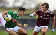 18 October 2020; Tommy Conroy of Mayo and Conor Campbell of Galway during the Allianz Football League Division 1 Round 6 match between Galway and Mayo at Tuam Stadium in Tuam, Galway. Photo by Ramsey Cardy/Sportsfile