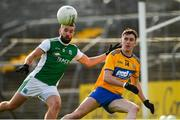 18 October 2020; James McMahon of Fermanagh in action against Joe McGann of Clare during the Allianz Football League Division 2 Round 6 match between Clare and Fermanagh at Cusack Park in Ennis, Clare. Photo by Diarmuid Greene/Sportsfile