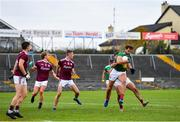 18 October 2020; Aidan O'Shea of Mayo is tackled by Cillian McDaid of Galway during the Allianz Football League Division 1 Round 6 match between Galway and Mayo at Tuam Stadium in Tuam, Galway. Photo by Ramsey Cardy/Sportsfile