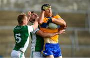18 October 2020; Gary Brennan of Clare in action against Cain McManus and Eddie Courtney of Fermanagh during the Allianz Football League Division 2 Round 6 match between Clare and Fermanagh at Cusack Park in Ennis, Clare. Photo by Diarmuid Greene/Sportsfile