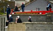 18 October 2020; Supporters watch the match from a fire truck stationed in Rathkeale fire station during the Allianz Football League Division 4 Round 6 match between Limerick and Wexford at Mick Neville Park in Rathkeale, Limerick. Photo by Eóin Noonan/Sportsfile
