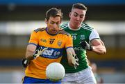 18 October 2020; Gary Brennan of Clare in action against Stephen McGullion of Fermanagh during the Allianz Football League Division 2 Round 6 match between Clare and Fermanagh at Cusack Park in Ennis, Clare. Photo by Diarmuid Greene/Sportsfile