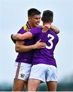 18 October 2020; Eoin Porter with team-mate Gavin Sheehan of Wexford following the Allianz Football League Division 4 Round 6 match between Limerick and Wexford at Mick Neville Park in Rathkeale, Limerick. Photo by Eóin Noonan/Sportsfile