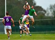 18 October 2020; Nick Doyle of Wexford in action against Darragh Treacy of Limerick during the Allianz Football League Division 4 Round 6 match between Limerick and Wexford at Mick Neville Park in Rathkeale, Limerick. Photo by Eóin Noonan/Sportsfile