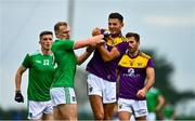 18 October 2020; Adrian Enright of Limerick with Glen Malone of Wexford during the Allianz Football League Division 4 Round 6 match between Limerick and Wexford at Mick Neville Park in Rathkeale, Limerick. Photo by Eóin Noonan/Sportsfile