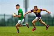 18 October 2020; Iain Corbett of Limerick in action against Martin O'Connor of Wexford during the Allianz Football League Division 4 Round 6 match between Limerick and Wexford at Mick Neville Park in Rathkeale, Limerick. Photo by Eóin Noonan/Sportsfile
