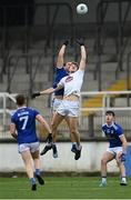 18 October 2020; Kevin Feely of Kildare in action against Padraig Faulkner of Cavan during the Allianz Football League Division 2 Round 6 match between Kildare and Cavan at St Conleth's Park in Newbridge, Kildare. Photo by Piaras Ó Mídheach/Sportsfile