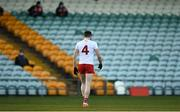 18 October 2020; Rory Brennan of Tyrone leaves the field after being sent off during the Allianz Football League Division 1 Round 6 match between Donegal and Tyrone at MacCumhail Park in Ballybofey, Donegal. Photo by David Fitzgerald/Sportsfile