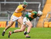 18 October 2020; Shane Nolan of Kerry in action against Ciaran Johnston of Antrim during the Allianz Hurling League Division 2A Final match between Antrim and Kerry at Bord na Mona O'Connor Park in Tullamore, Offaly. Photo by Matt Browne/Sportsfile