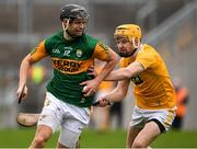 18 October 2020; Michael Leane of Kerry in action against Phelim Duffin of Antrim during the Allianz Hurling League Division 2A Final match between Antrim and Kerry at Bord na Mona O'Connor Park in Tullamore, Offaly. Photo by Matt Browne/Sportsfile