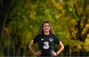 19 October 2020; Republic of Ireland's Leanne Kiernan poses for a portrait at the team's training base in Duisburg, Germany. Photo by Stephen McCarthy/Sportsfile