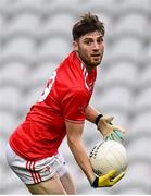 17 October 2020; John Cluttercuck of Louth during the Allianz Football League Division 3 Round 6 match between Cork and Louth at Páirc Ui Chaoimh in Cork. Photo by Harry Murphy/Sportsfile