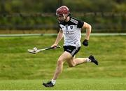 18 October 2020; Andrew Kilcullen of Sligo during the Allianz Hurling League Division 3B Final match between Sligo and Leitrim at the Connacht Centre of Excellence in Bekan, Mayo. Photo by Harry Murphy/Sportsfile
