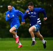 19 October 2020; Luke McGrath, right, and Dave Kearney during Leinster Rugby squad training at UCD in Dublin. Photo by Ramsey Cardy/Sportsfile