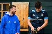 19 October 2020; David Hawkshaw, left, and Dan Sheehan during Leinster Rugby squad training at UCD in Dublin. Photo by Ramsey Cardy/Sportsfile